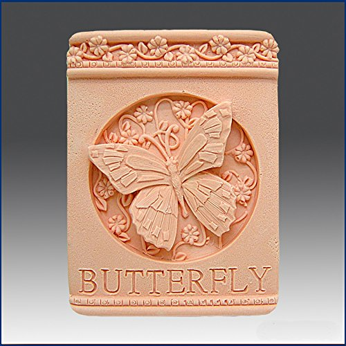 Butterfly Plaque- Detail of High Relief Sculpture - Silicone Soap/polymer/clay/cold Porcelain Mold (Relief Plaques)