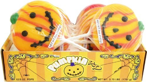 Halloween Pumpkin Pops 12ct. by Candy - Halloween Pumpkin Pops