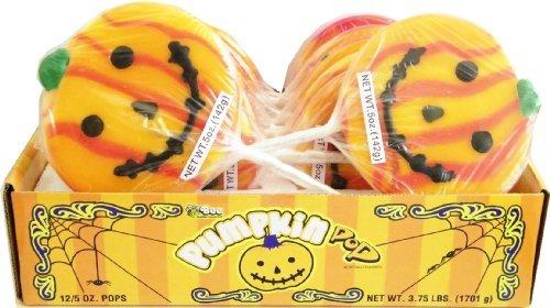 Halloween Pumpkin Pops 12ct. by Candy - Pumpkin Pops Halloween