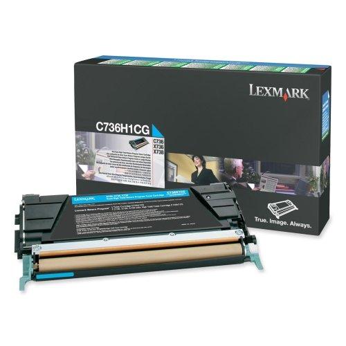 Price comparison product image Lexmark C736H1CG C736H1CG High-Yield Toner, 10000 Page-Yield, Cyan
