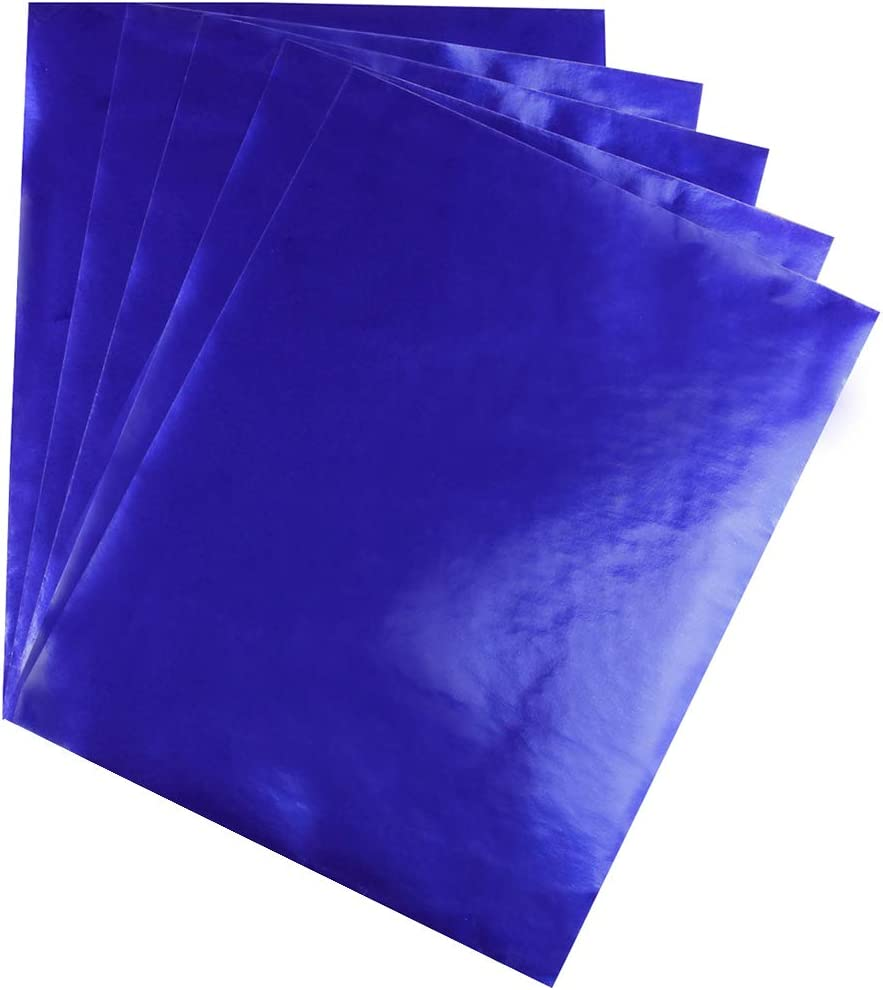 Hygloss Products 26853 Metallic Foil Paper for Arts /& Crafts Dark Blue Classroom Activities /& Artists-8.5 x 11-12 Sheets