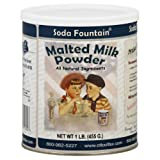 Soda Fountain Malted Milk Powder 1 Lb. (Single) - Malt Powder for Ice Cream and Baking