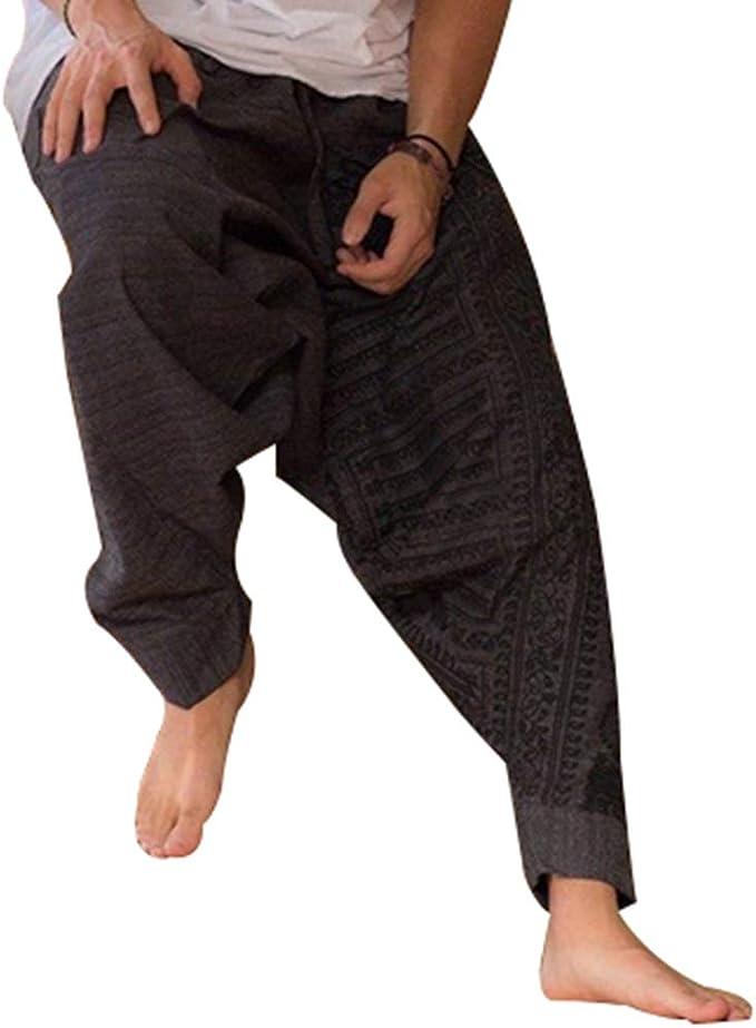 MEIHAOWEI Hombres de la Moda Pantalones Harem Pantalones Holgados ...