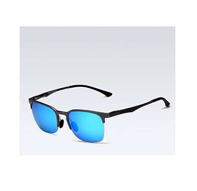89ae144840f VEITHDIA Unisex Sunglasses Polarized Retro Aluminum Magnesium fishing  hunting clubmaster Lens Vintage Eyewear Accessories Sun Glasses Men Women  6631 (Black