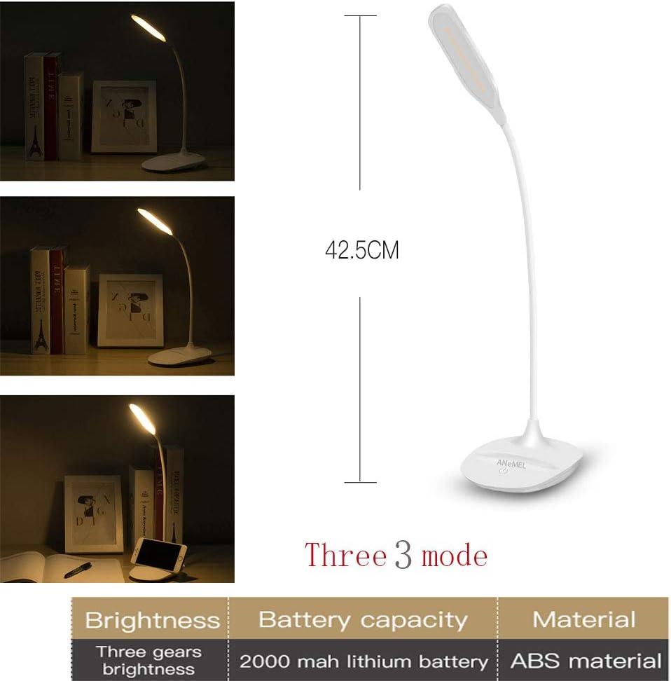 Stylische B/ürolampe LED-Tischleuchte,Schreibtischlampe LED 5W Dimmbare Tischlampe mit 3 Level Dimmer Touch Control,12 LEDS Leselampe f/ür Kinder