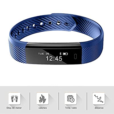 Fitness Trackers, Vanzon Activity Tracker Smart Watch with Pedometer Calories Counter and Sleep Monitor for Android and iOS Smartphones ,Great Christmas Gifts for Kids Women and Men (Blue Color)