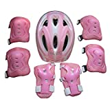 CT-Tribe Protective Gear Set, 7pcs Children Protective Gear Helmet Knee Elbow Wrist Pads for Skateboard,Biking, Riding, Cycling and Multi Sports 6-12 years old