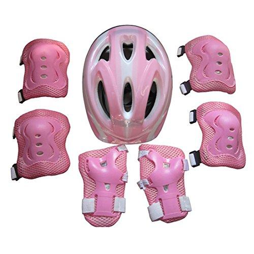 YVSoo Protecciones Patines Ni/ño 7Pcs Casco Brazales Protector de odo Rodillera Equipo de Protecci/ón para Skate Ciclismo 5-13 a/ños
