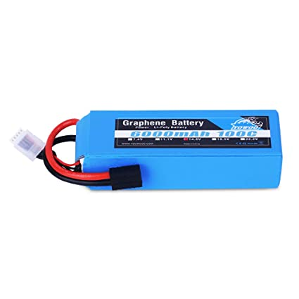 YOWOO Graphene Battery 4S 6000mAh 100C 14 8V Graphene Lipo Battery Pack  with Traxxas Plug for RC Helicopter Airplane Car Truck Boat Remote Control
