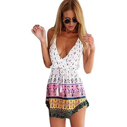 KDHJJOLY Comfortable Sexy Printing Sleeveless Dress Effective shipment ()