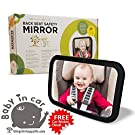 Blowout Price +BONUS GIFTS Baby Car Mirror | Rear Facing | Up to 40% Larger than other mirrors | Shatterproof Glass | Fully Adjustable | Unmatched