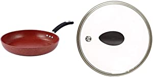 """12"""" Stone Earth Frying Pan and Lid Set by Ozeri, with 100% APEO & PFOA-Free Stone-Derived Non-Stick Coating from Germany"""