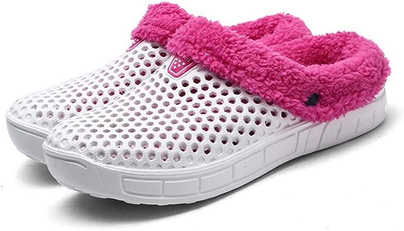 Cómodo cálido confort de algodón lavable a máquina zapatillas zapatos caliente Touch antideslizantes suela de goma ...