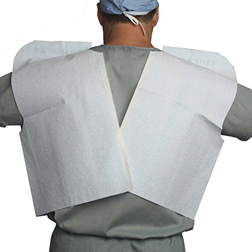 MediChoice Exam Capes, Disposable, Tissue/Poly/Tissue, 30 Inch x 21 Inch, White (Case of 100) by MediChoice (Image #1)