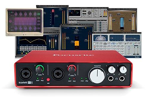 Focusrite Scarlett 6i6 (2nd Gen) USB Audio Interface + Waves Musicians 2 + iZotope DDLY Dynamic Delay by Focusrite