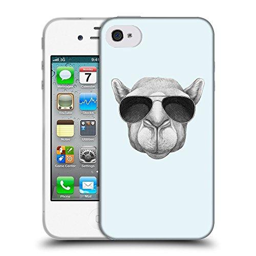 GoGoMobile Coque de Protection TPU Silicone Case pour // Q05460619 Chameau soleil Bulles // Apple iPhone 4 4S 4G