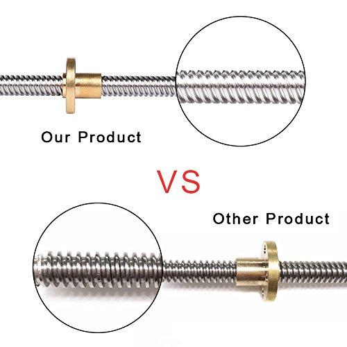 Copper Nut BIQU 350mm 8mm T8 Lead Screw Set Lead Screw Coupler Pillow Bearing Block for 3D Printer