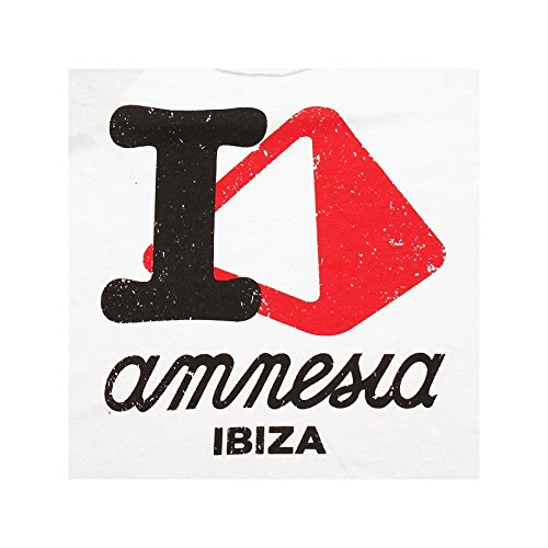 Amnesia Ibiza: Camiseta sin mangas I Love AMN Blanco