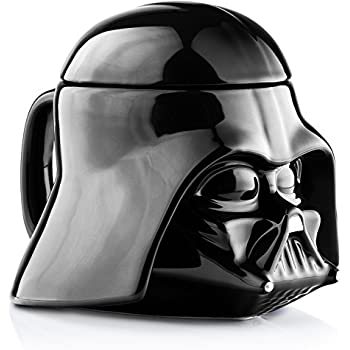Star Wars Mug - Darth Vader Helmet 3D Ceramic Coffee and Drink Mug with Removable Lid - 20 Ounce