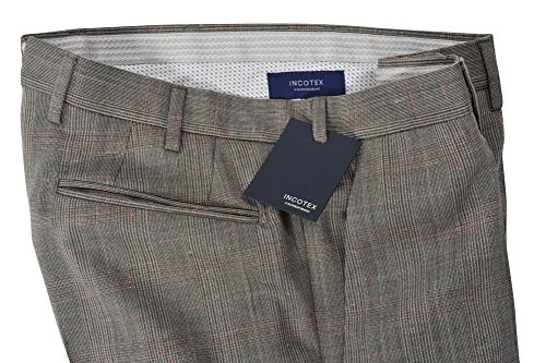Incotex Pantalon Homme 48 Gris / Chinos Taille normale Coupe droite R