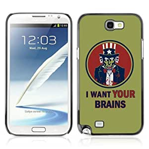 YOYOSHOP [I Want Your Brains] Samsung Galaxy Note 2 Case