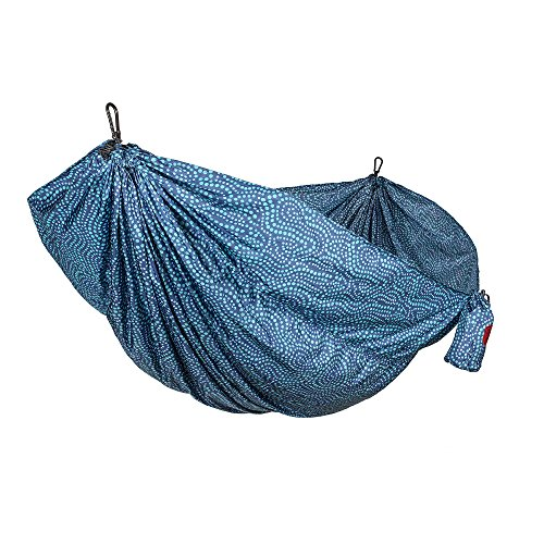 Grand Trunk Double Parachute Printed Nylon Hammock: Portable with Carabiners and Hanging Kit - Perfect for Outdoor Adventures, Backpacking, and Festivals, Batik by Grand Trunk