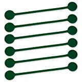 TwistieMag Strong Magnetic Twist Ties - The Enchanted Forest Collection - Hunter Green 6 Pack - Super Powerful Unique Solution For Cable Management, Hanging & Holding Stuff, Fidget Toy, Or Just For Fu