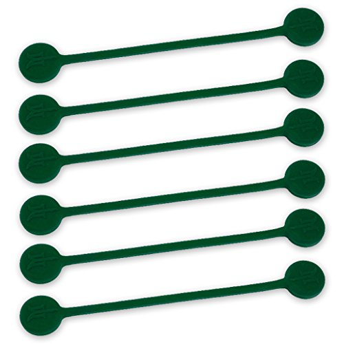 TwistieMag Strong Magnetic Twist Ties - The Enchanted Forest Collection - Hunter Green 6 Pack - Super Powerful Unique Solution for Cable Management, Hanging & Holding Stuff, Fidgeting, Or Just for Fu