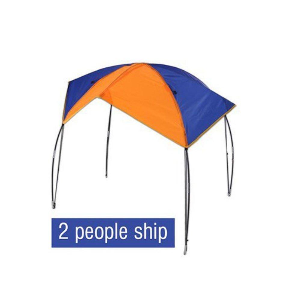 Aesy Tente de Pêche, 2-4 Personnes Bateau Gonflable Kayak Accessoires De Pêche Sun Shade Pluie Couvert Kayak Kit