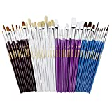 Office Products : Artlicious - 40 Paint Brush Super Pack - Great with Acrylic, Oil, Watercolor, Gouache