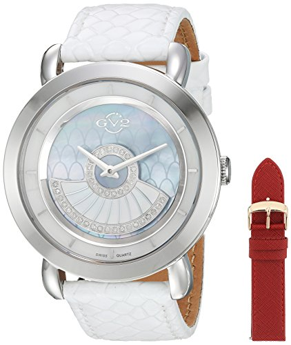 GV2-by-Gevril-Womens-Catania-Swiss-Quartz-Stainless-Steel-and-Leather-Casual-Watch-ColorBlue-Model-3600