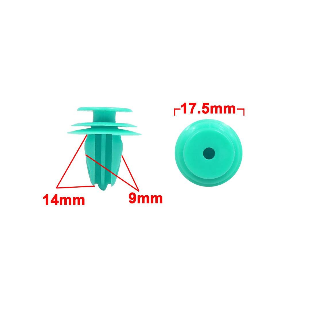 sourcing map 25Pcs Rivets en Plastique 9mm Clips de Pare-Chocs Garniture de vis de Panneau de Finition avec fixateur