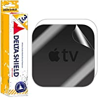 Apple TV Screen Protector (4th Gen,2015)[3-Pack], DeltaShield BodyArmor Full Coverage Back + Front Screen Protector for Apple TV Military-Grade Clear HD Anti-Bubble Film