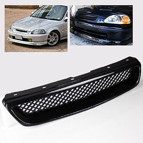 ModifyStreet Black ABS Plastic JDM Mesh Sport Grille For 96 98 Honda Civic  EK LX