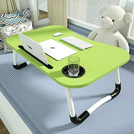JS - Bandeja para Ordenador portátil, con Mesa para Dormir y Mesa ...