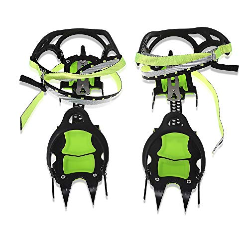 DETECH 14 Teeth Claws Full Clip Crampons Non-Slip Ice Gripper Winter Snow Boot Shoe Covers Gripper