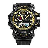 Soleasy Men Outdoor Sports Digital LED Luminous Digital Quatrz Movement Wristwatches WTH5589