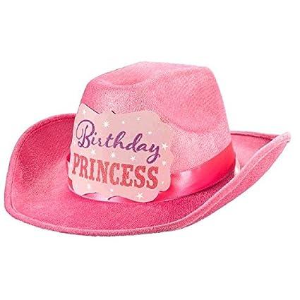 877dc03c5dc4c Amazon.com  Amscan 396777 Birthday Princess Cowboy Hat Party Accessories