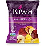 Kiwa Vegetable Chips Mix (6 Pack, 2.5 Oz Bag) All Natural Plant Based, Sustainably Sourced, Non-GMO, Gluten Free, Savory Snack