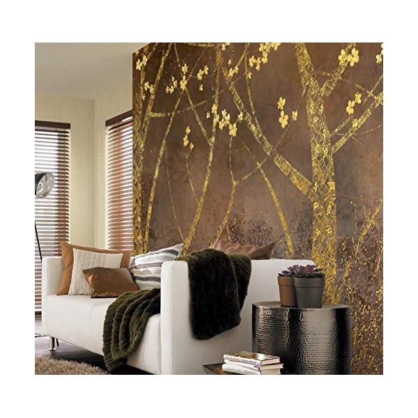 LIWALLPAPER-Carta-Da-Parati-3D-Fotomurali-Foresta-Di-Prugne-Dorate-Camera-da-Letto-Decorazione-da-Muro-XXL-Poster-Design-Carta-per-pareti-200cmx140cm