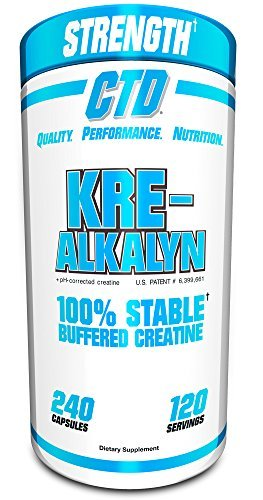 Pure Kre-Alkalyn Creatine Pills 240 Capsules, Best Selling Highly Rated Creatine Supplement (Kre Alkalyn Creatine Powder)