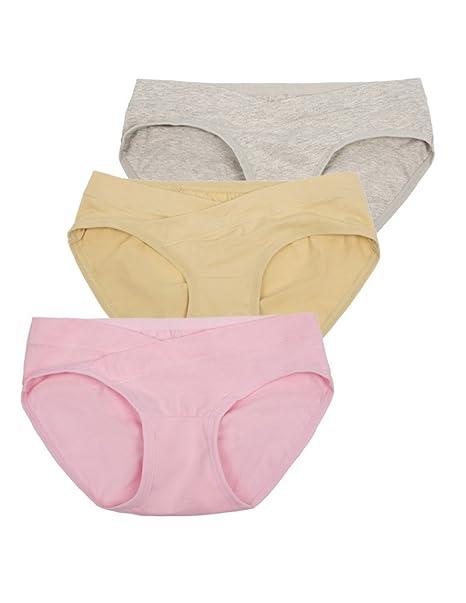 269537b2e Maacie 3 5 Pack Bragas Maternidad Algodón Cintura Baja Ropa Interior Mujer  Embarazada Premamà  Amazon.es  Ropa y accesorios