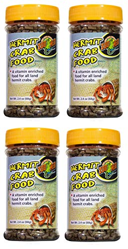 (Zoo Med 4 Pack of Hermit Crab Food, 2.4 Ounces Each)