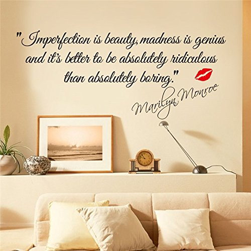 Impersonation Is Beauty Best Quotes Wall Stickers Removable Wall Decorative for Home (Marine Corps Wreath)