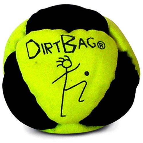 World Footbag Dirtbag Hacky Sack, Neon Yellow/Black