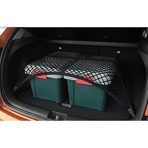 pegasuss sol Organiseur de coffre de rangement Cargo Net SUV Filet en maille Noir pour Audi Q3