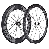 88mm carbon wheels - VCYCLE Nopea 700C Road Bike Carbon Wheel Clincher Front 50mm Rear 88mm Shimano or Sram 8/9/10/11 Speed