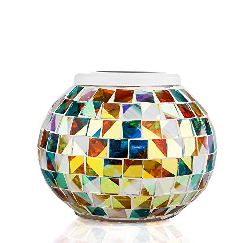 Crackle Glass Ball Solar Lights in US - 9