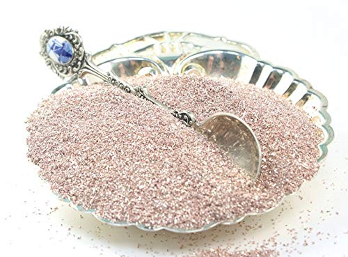 Pink Imported German Glass Glitter - 1 Ounce Jar - Fine 90 Grit (Most Popular Grain Size) Sparkly Glass Glitter - 311-9-116 (Pink Imported)