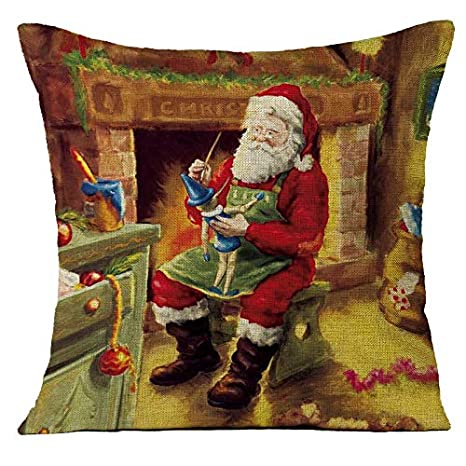 Go First Funda de Almohada navideña, Almohadas navideñas ...